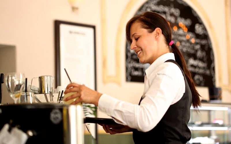 School leaver waitress job