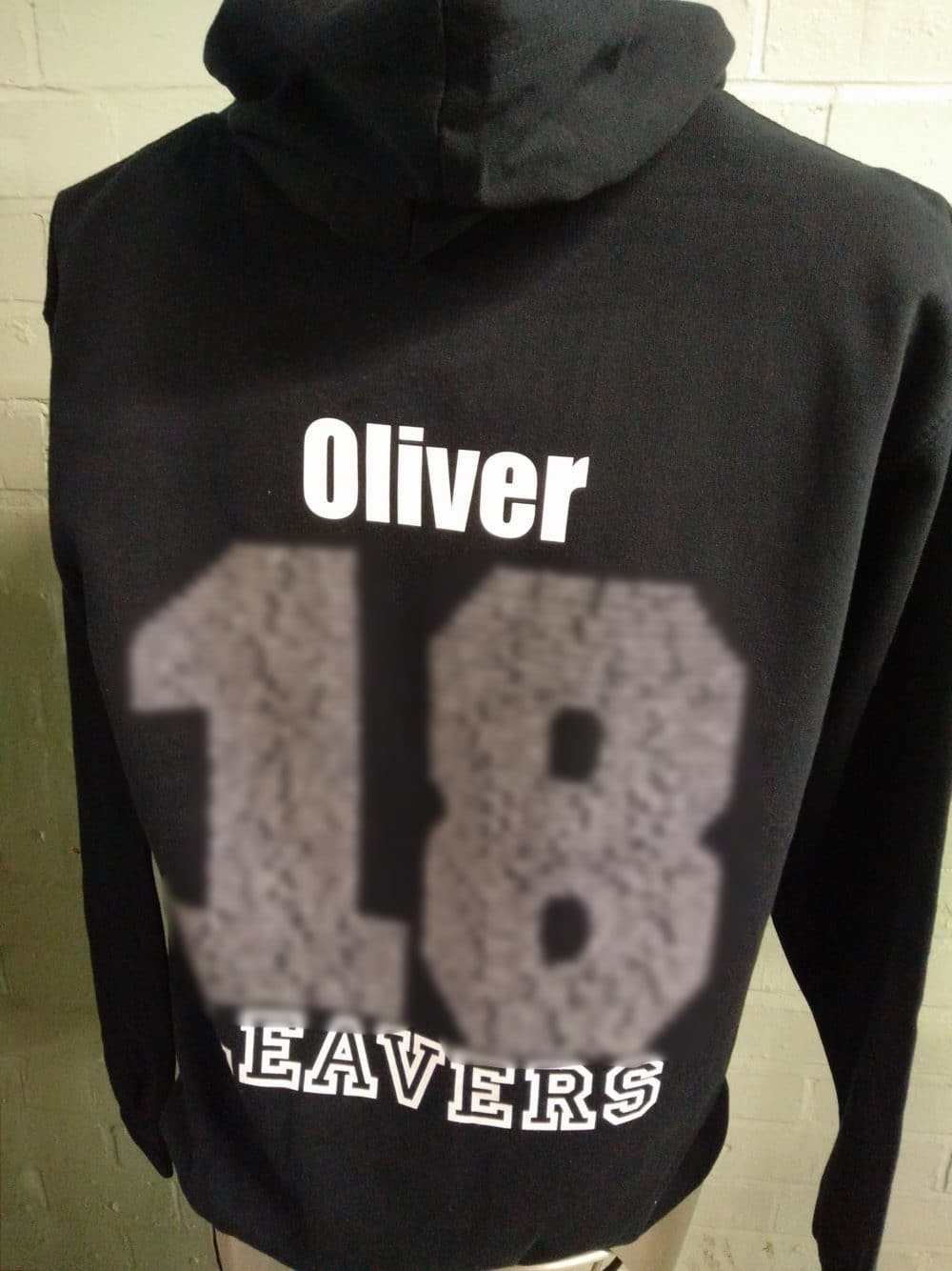 Black Bespoke Printed Leavers Hoodies 2018