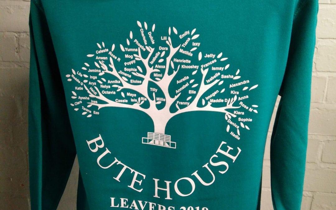 Bute House Aqua Leavers Hoodies 2018