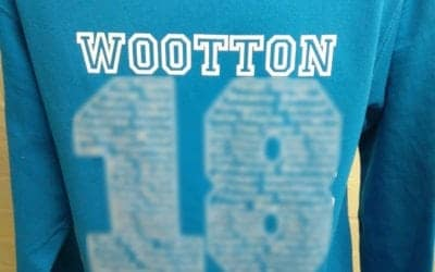 Wootton Primary School Leavers Hoodies in Blue Class of 2018