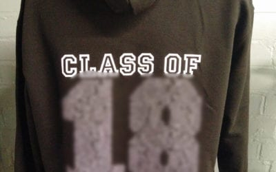 Black Leavers Hoodies Printed Class of 2018