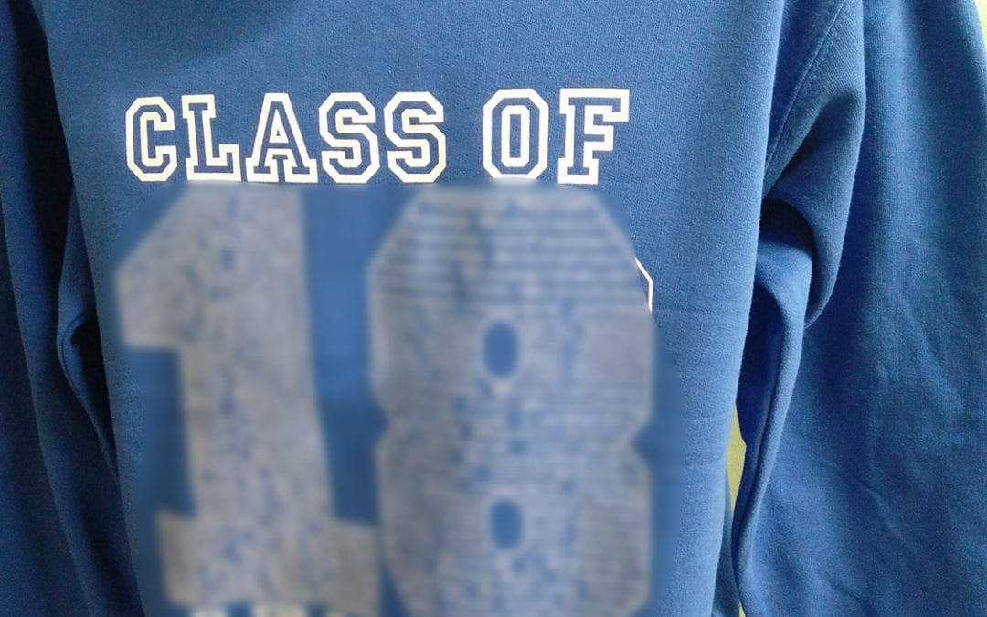Bringhurst Class of 2018 Blue Leavers Hoodies