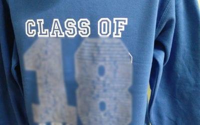 Bringhurst Class of 2018 Blue Leavers Hoodies