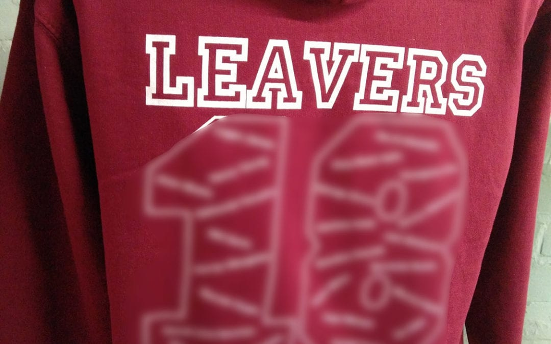 Burgundy 2018 Leavers Hoodies Class of 2018 Bespoke Print