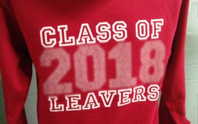 Cavendish Red Printed Leavers Hoodies 2018