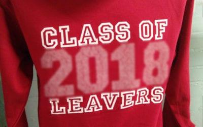 Cavendish Red Printed Leavers Hoodies 2018