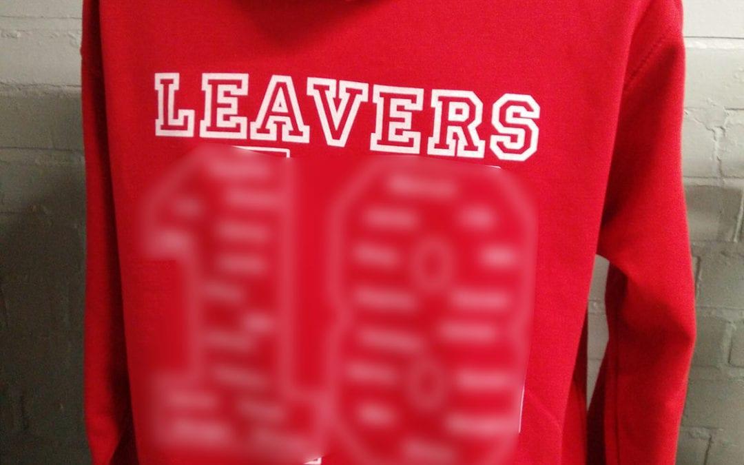 Clehonger Printed Red Class of 2018 Leavers Hoodies 2018
