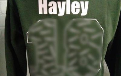 Printed Khaki Green Leavers Hoodies Class of 2018