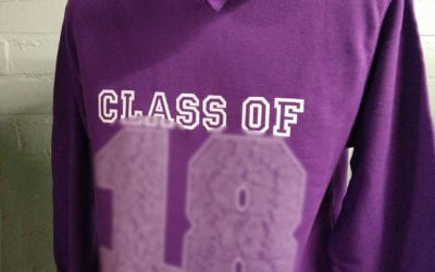 Purple Printed Leavers Hoodies Class of 2018