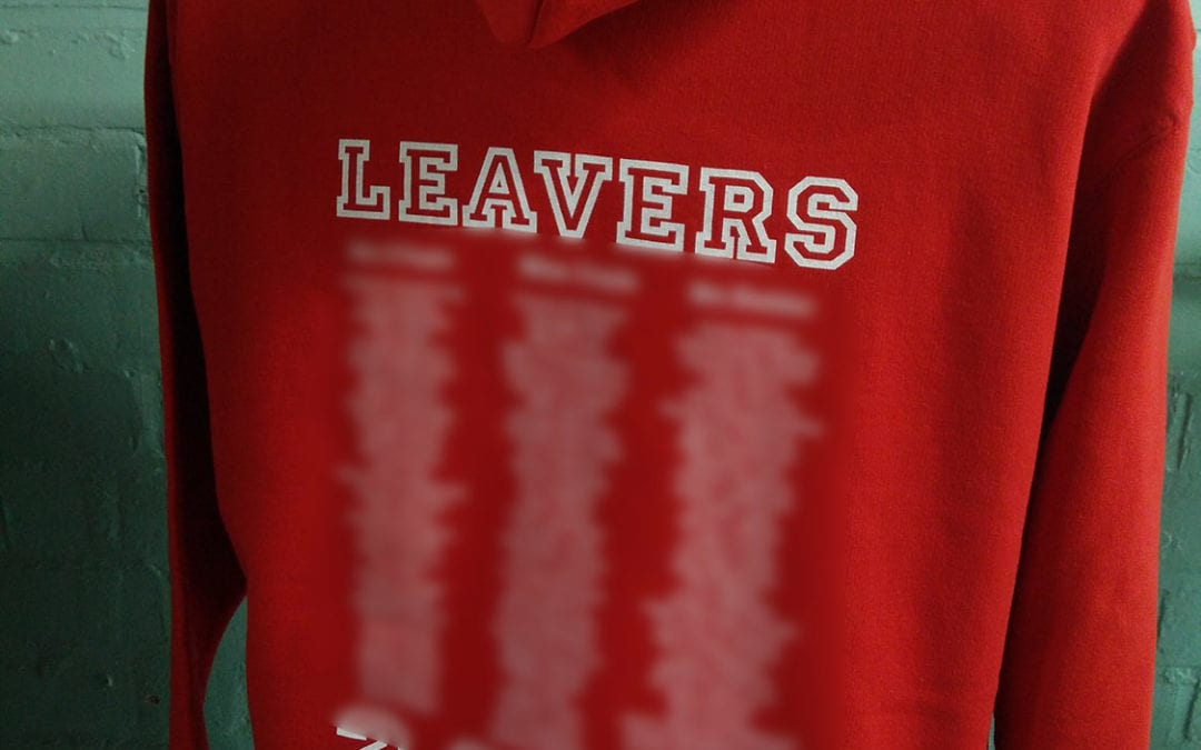 Vincents CPS Red Leavers Hoodies Class of 2018