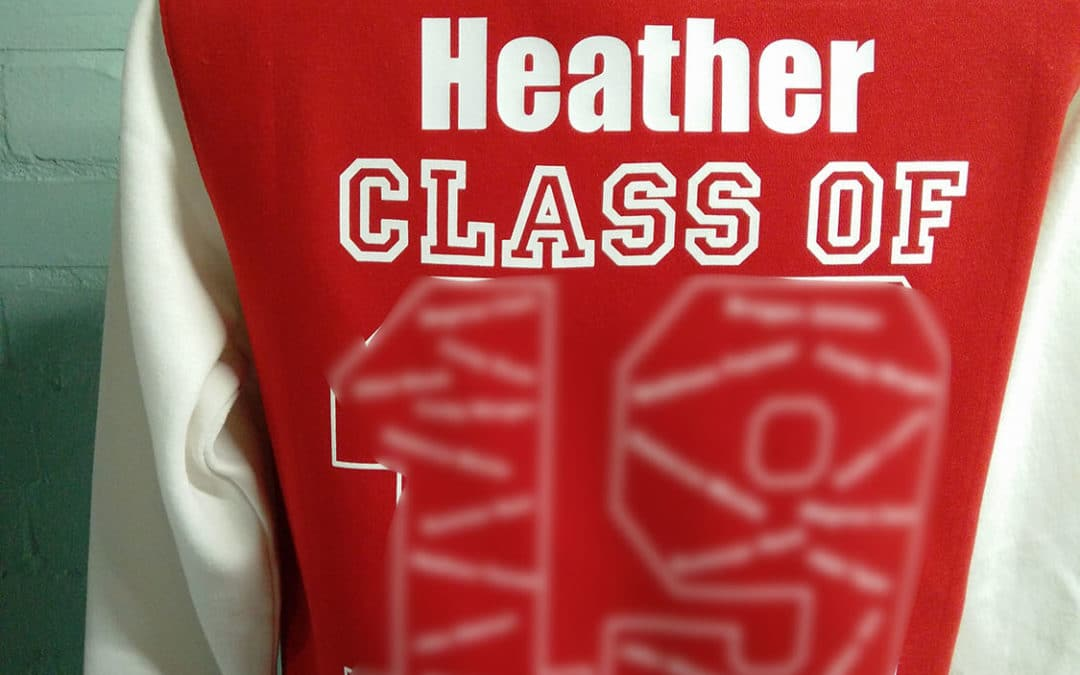 Class of 2019 Leavers Letter Red and White Jackets