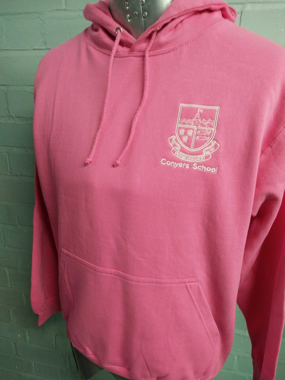 Conyers School 2019 Printed Pink Leavers Hoodies
