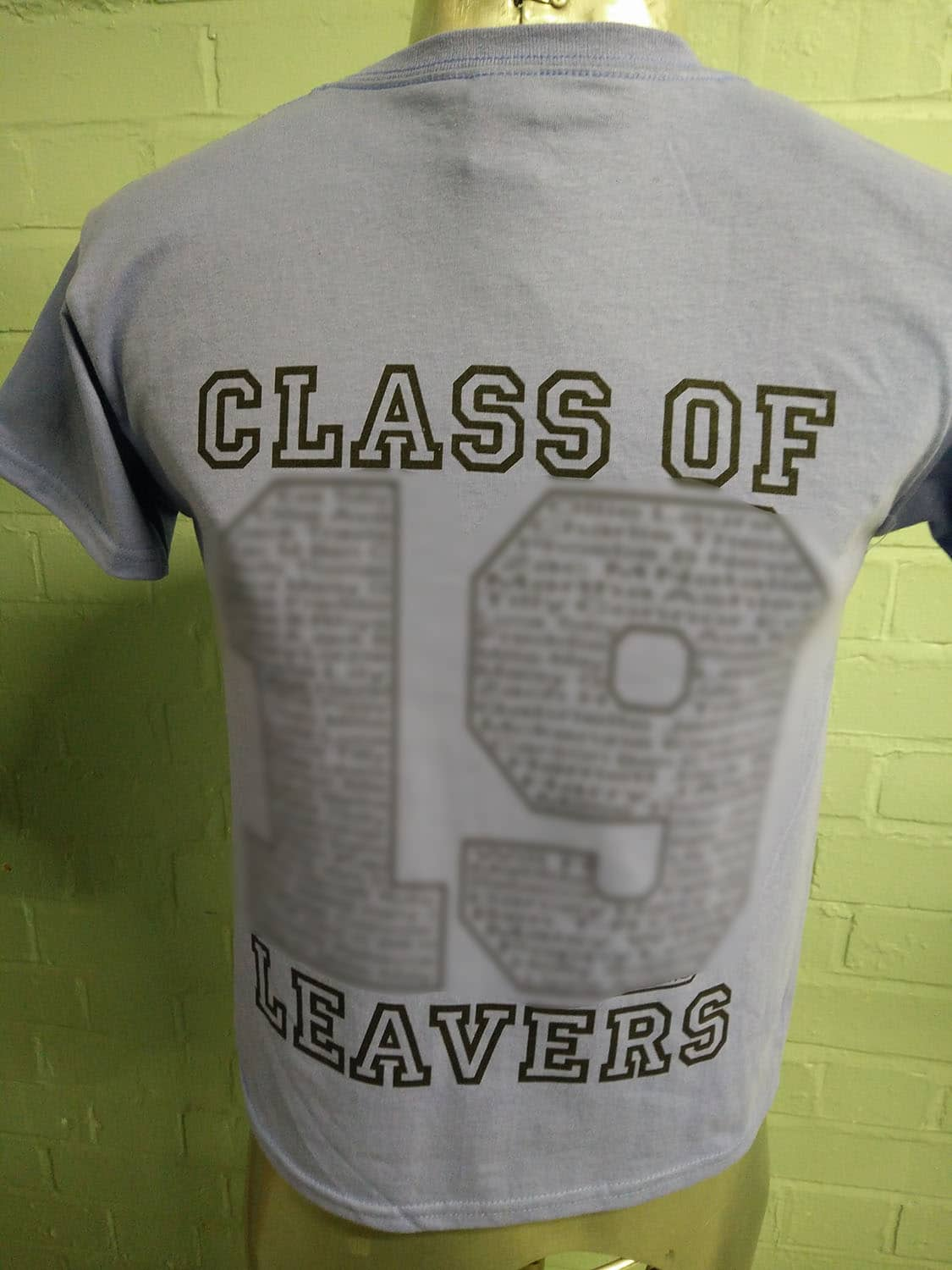 Ashby Leavers T Shirts Grey with Black Print 1
