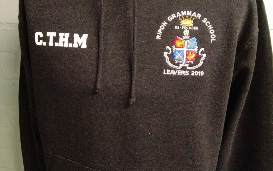 Rippon Grammar School Leavers Hoodies 2019 in Black