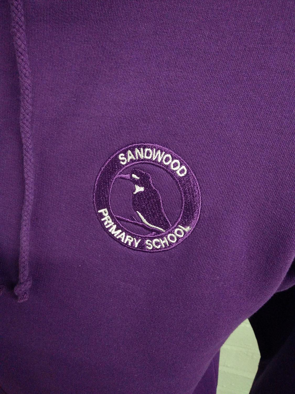 Sandwood PS Purple Class of 2019 Leavers Hoodies