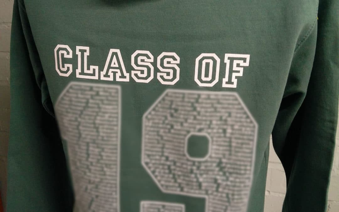 Wirrel GS Class of 2019 Green Leavers Hoodies