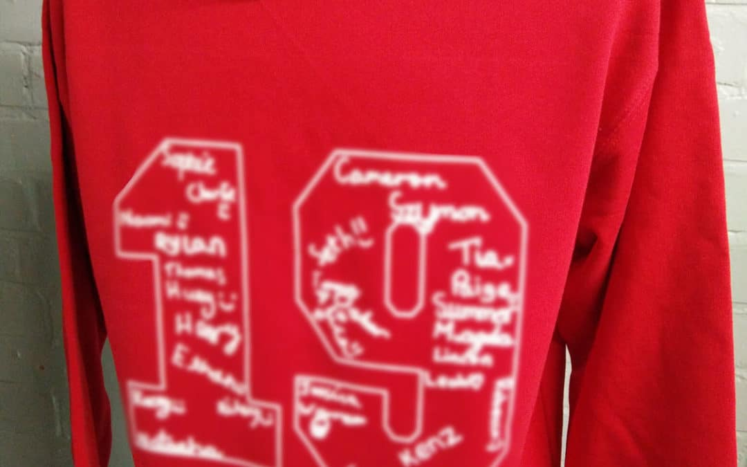 Red Autograph Custom Leavers Hoodies Class of 2019 Great Idea