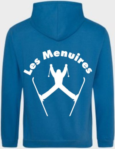 Example back design for ski hoodie