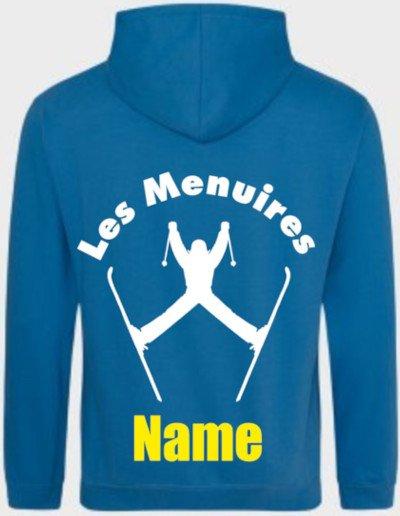 Ski hoody personalisation example 1