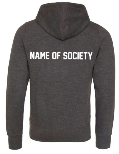 Printed name of Society on the back