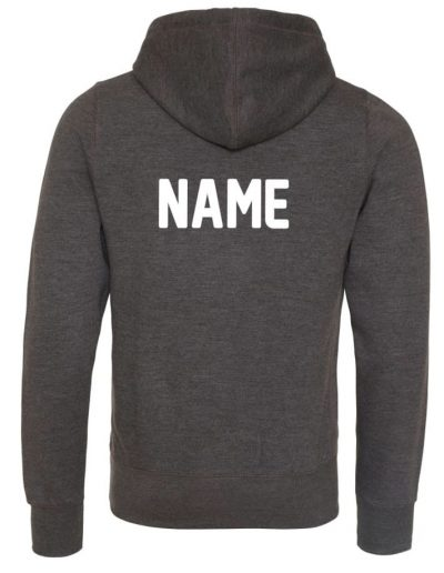 Printed name on the back