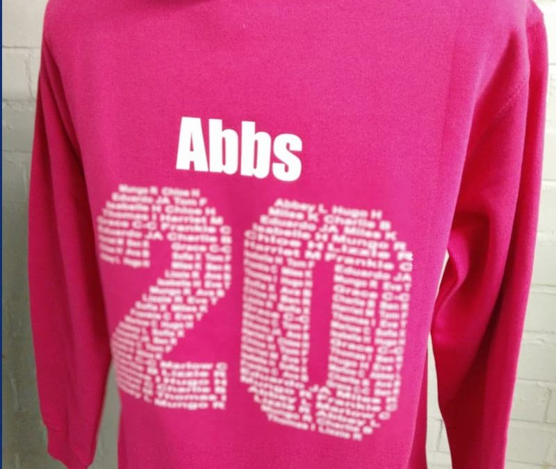Pink Hoodies with personal name & year name print