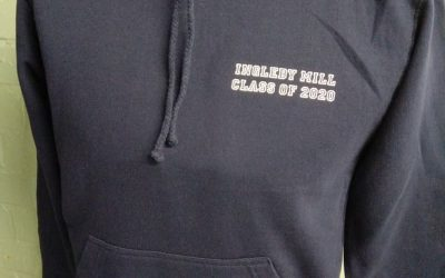 Black leavers hoodies with name print