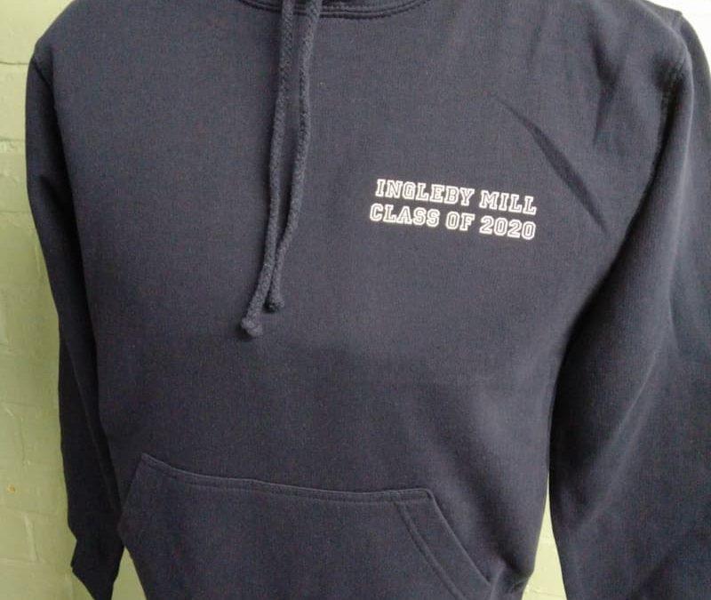 Black leavers hoodies with name print