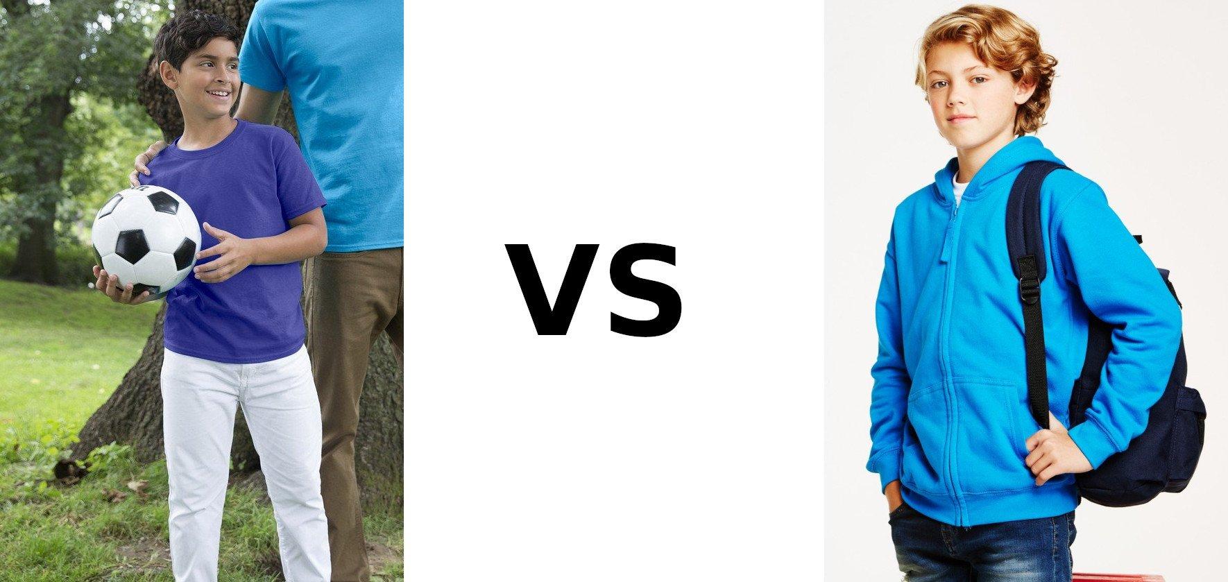 Primary School Leavers T-Shirts vs Hoodies