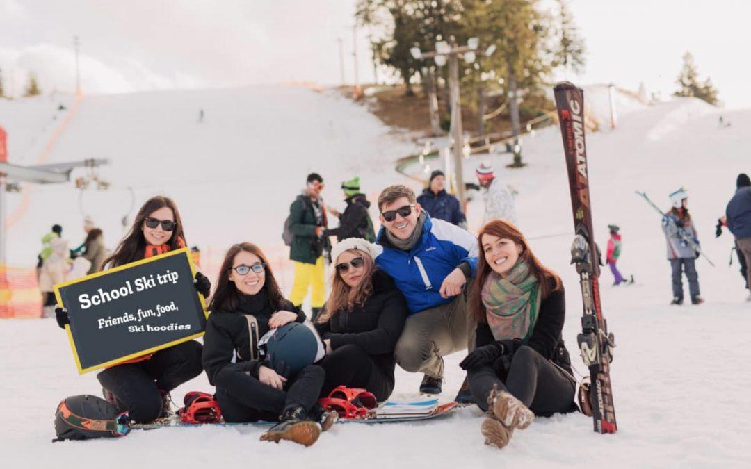 When are skiers/snowboarders wearing their ski trip hoodies?